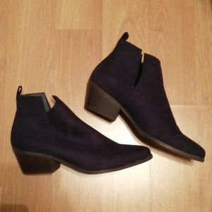 Navy Blue JustFab ankle boots
